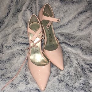 Light Pink Kamalikulture Strappy Pump Heels